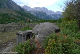 Bunkers in the valley of Valbone, North Albania