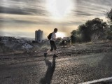 Sunset Urban running