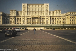 Feeling tiny in Bucharest, under Ceauşescu Palace