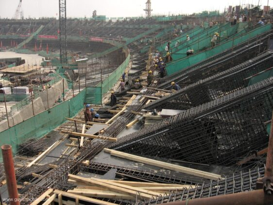 Beijing Bird's Nest National Stadium Construction, and neighboring area destruction