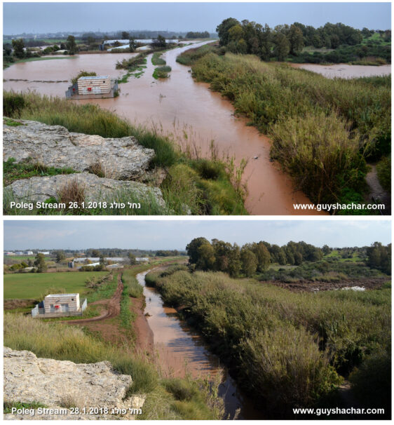 Flows and floods in the Sharon plain, Emek Hefer and Menashe areas