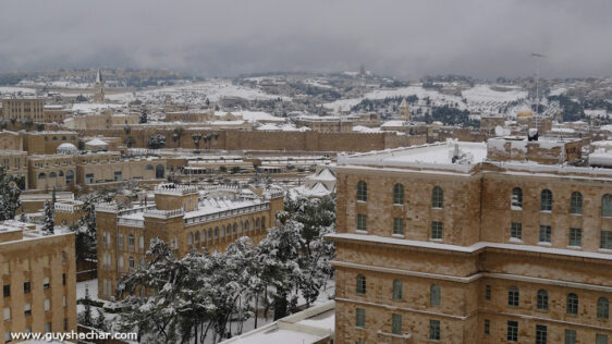 Snow in Jerusalem – January 9th-10th, 2013