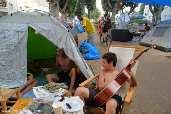 Tel Aviv Tent City – photos from Rothschild boulevard