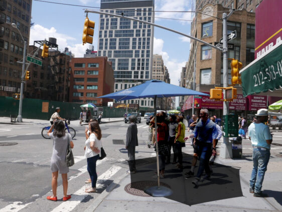 Pedestrian crossing sun shading – a simple solution with a huge walkability benefit